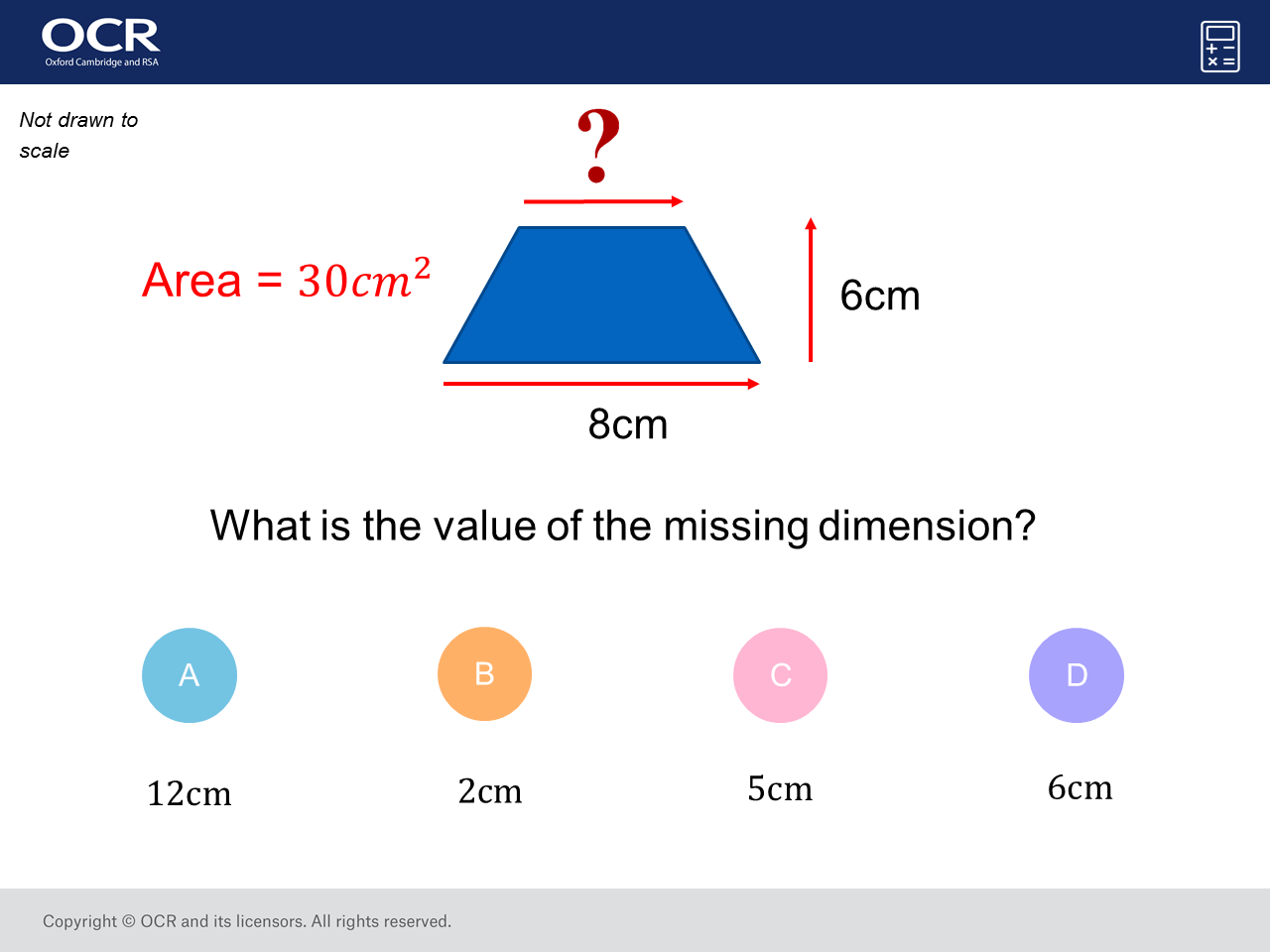 Area Of A T Zium Gcse Maths Question Of The Week