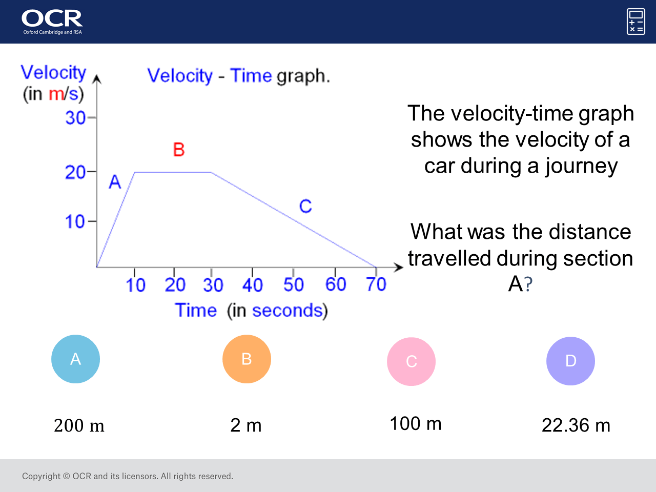 Distance From A Veolcity Time Graph Higher Gcse Maths