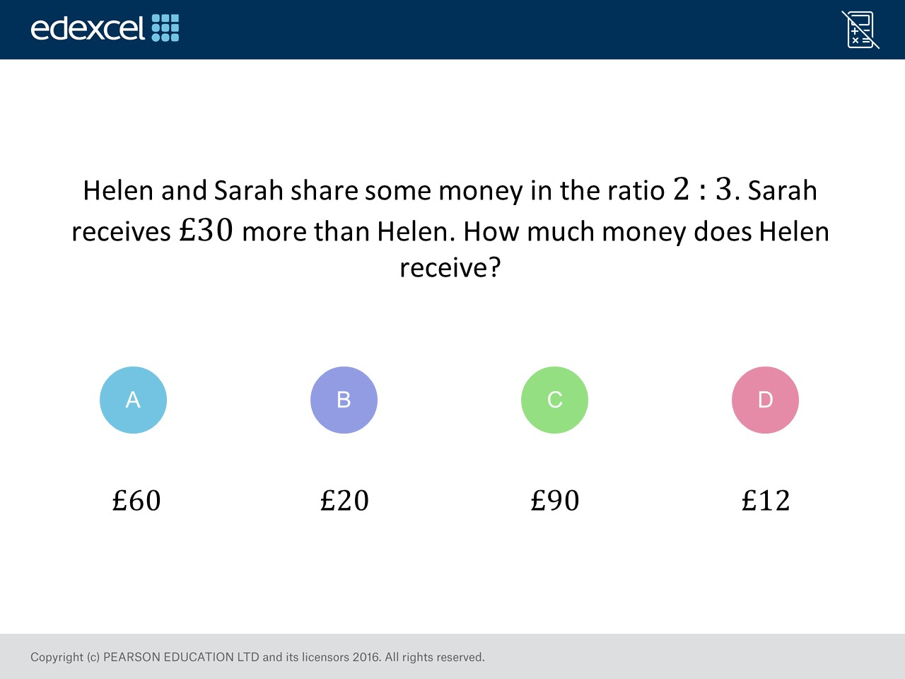 Sharing In A Ratio Foundation Higher Gcse Maths