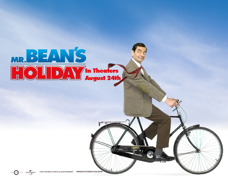 Mr Bean's Holiday Wallpaper - On A Bike