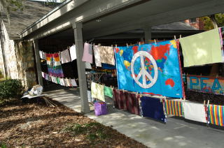 Peace Quilt at Holistic Health Fair