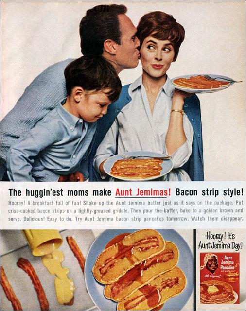 Bacon Strip Pancakes 1964 Magazine Ad
