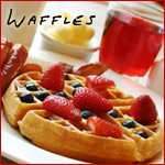 Easter Ham Waffles