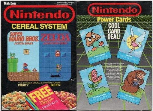 Nintendo Cereal System Nintendo Cereal Power Cards