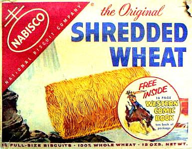 Shredded Wheat Nabisco Shredded Wheat Western Comic