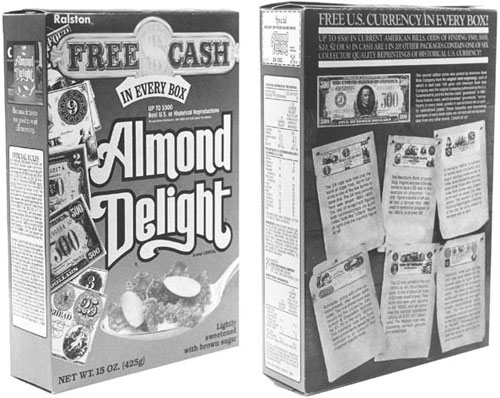 Image result for images of almond delight free cash in every box