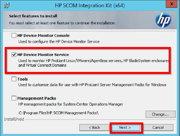 Installing the HPE SCOM Integration kit (x64/x86) v3 1