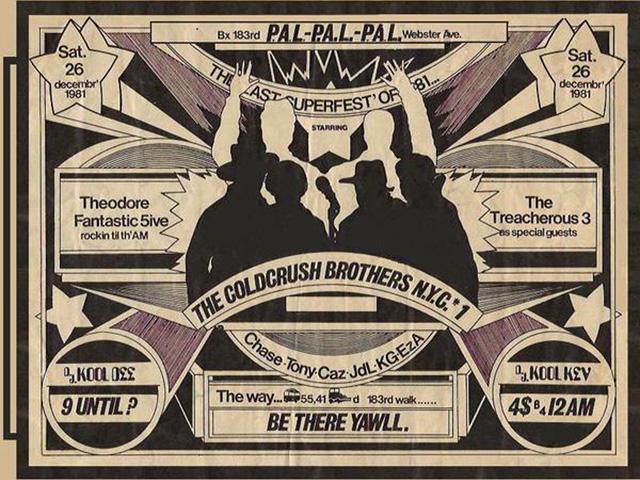 Original Hip Hop Flyer Messiah & Five Element Ninja P.H.A.S.E. 2