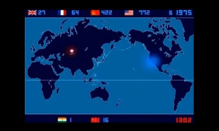 Time Lapse Map Of Every Single Nuclear Explosion Ever On Earth