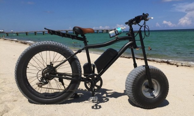 Xterrain500 electric fatbike rolls 10 inches Of Rubber Up Front