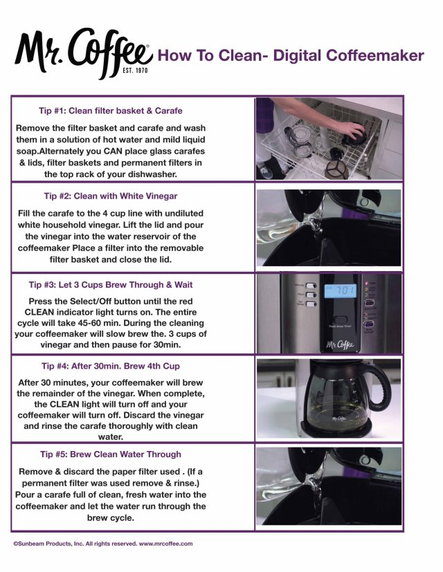 How To Clean your Mr. Coffee® Coffee Maker