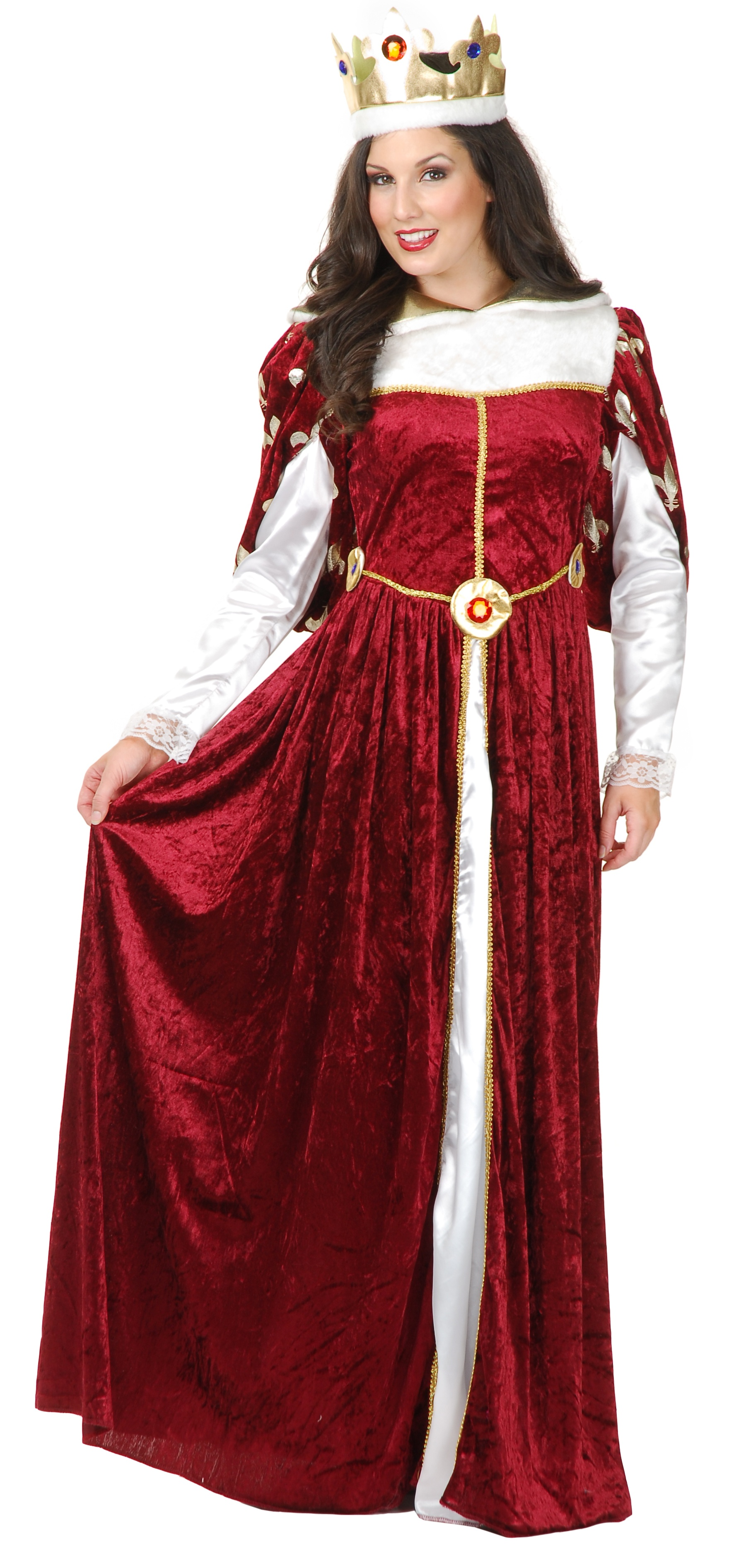 Womens Royal Queen Gown Adult Costume Mr Costumes