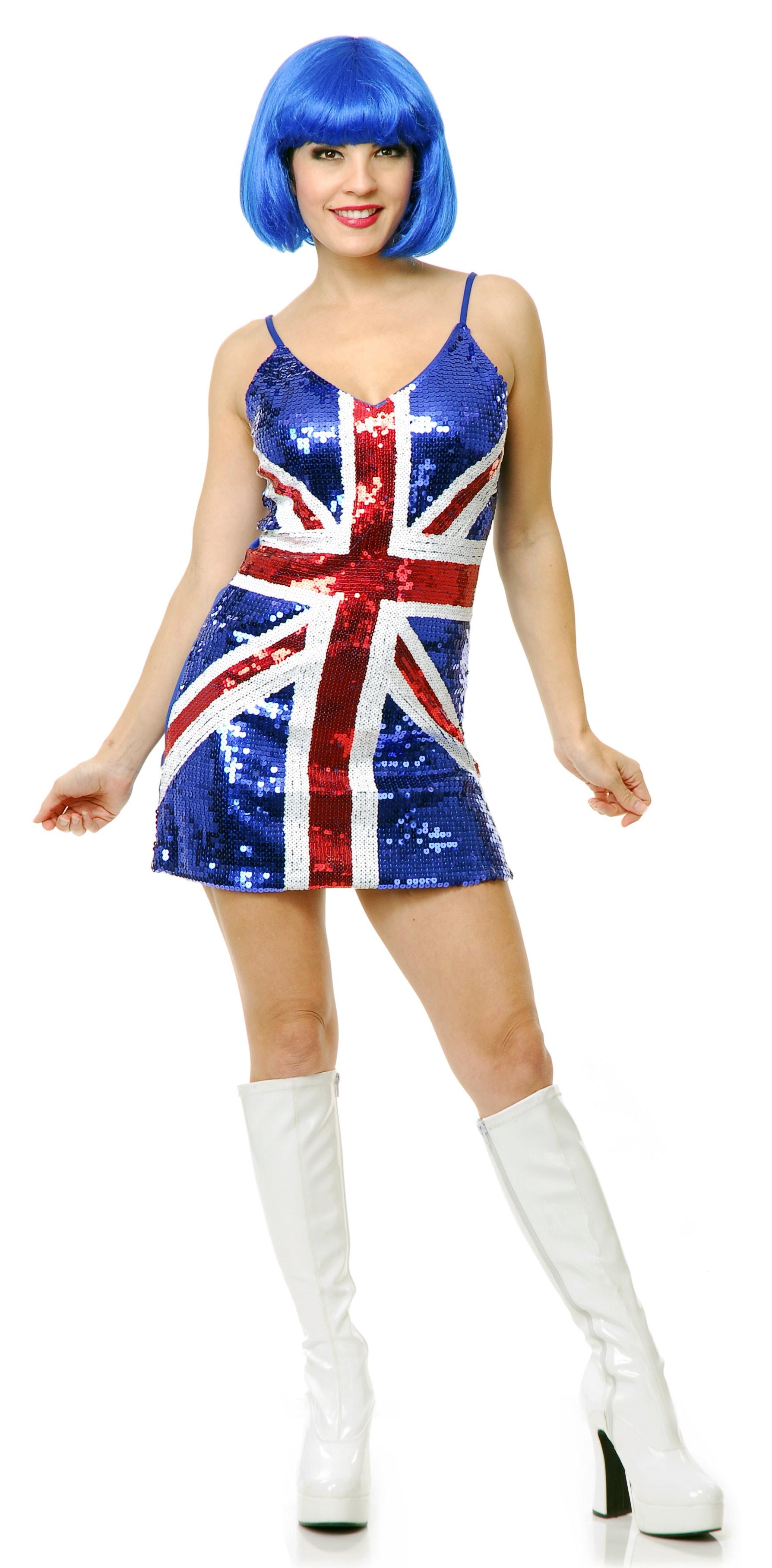 Dress Sequin Flag British