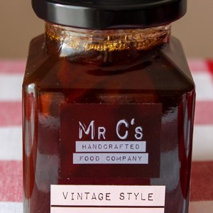 Vintage style dark orange marmalade