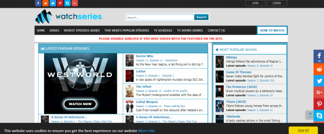 MOVIES PROXY/MIRROR SITES TO UNBLOCK WATCHSERIES.TO