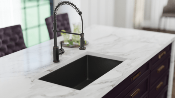 black undermount kitchen sinks