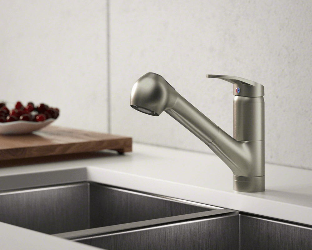 708 bn brushed nickel pull out faucet