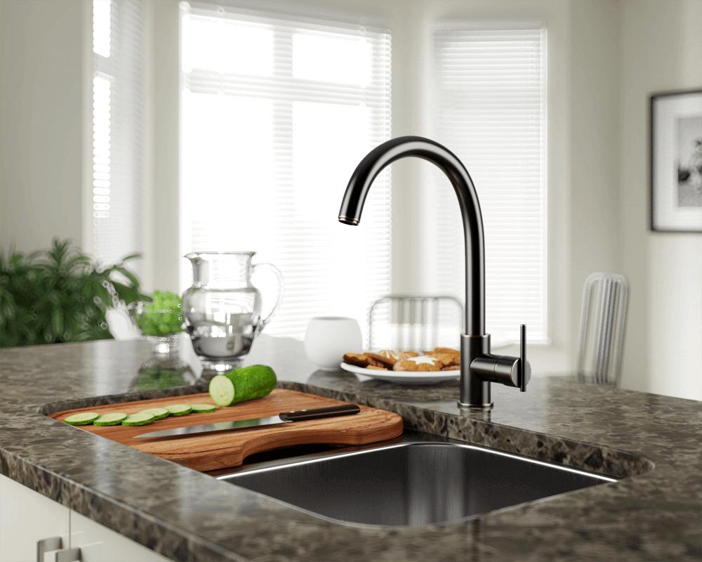 711 abr antique bronze single handle kitchen faucet