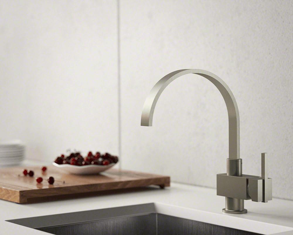 712 bn brushed nickel single handle kitchen faucet
