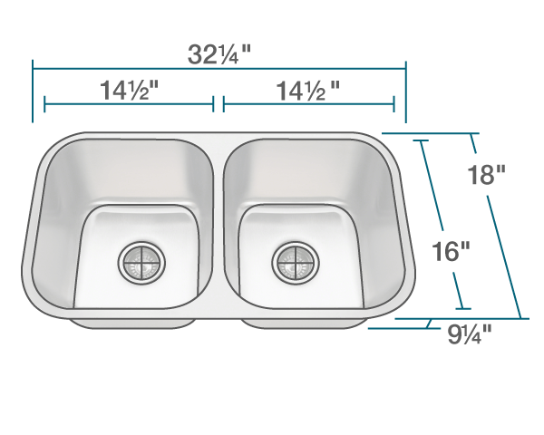 3218a slg double bowl undermount stainless steel sink with gray sinklink