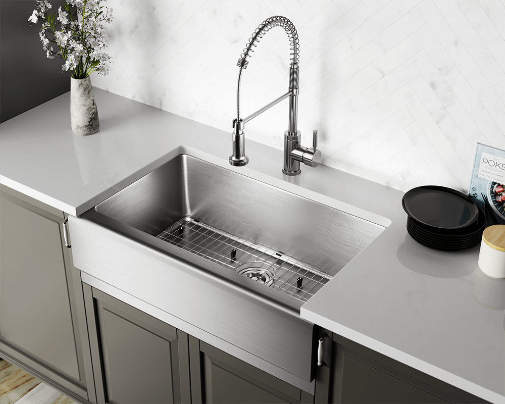 405 single bowl stainless steel apron sink