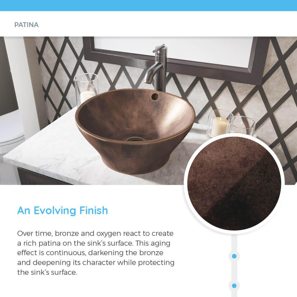 955 bronze vessel sink
