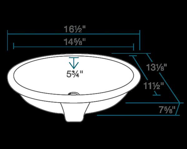 ups white porcelain bathroom sink
