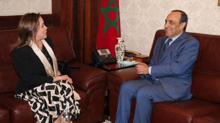 تعزيز التعاون بين المغرب وكولومبيا محور مباحثات رئيس مجلس النواب والسفيرة الكولومبية بالرباط