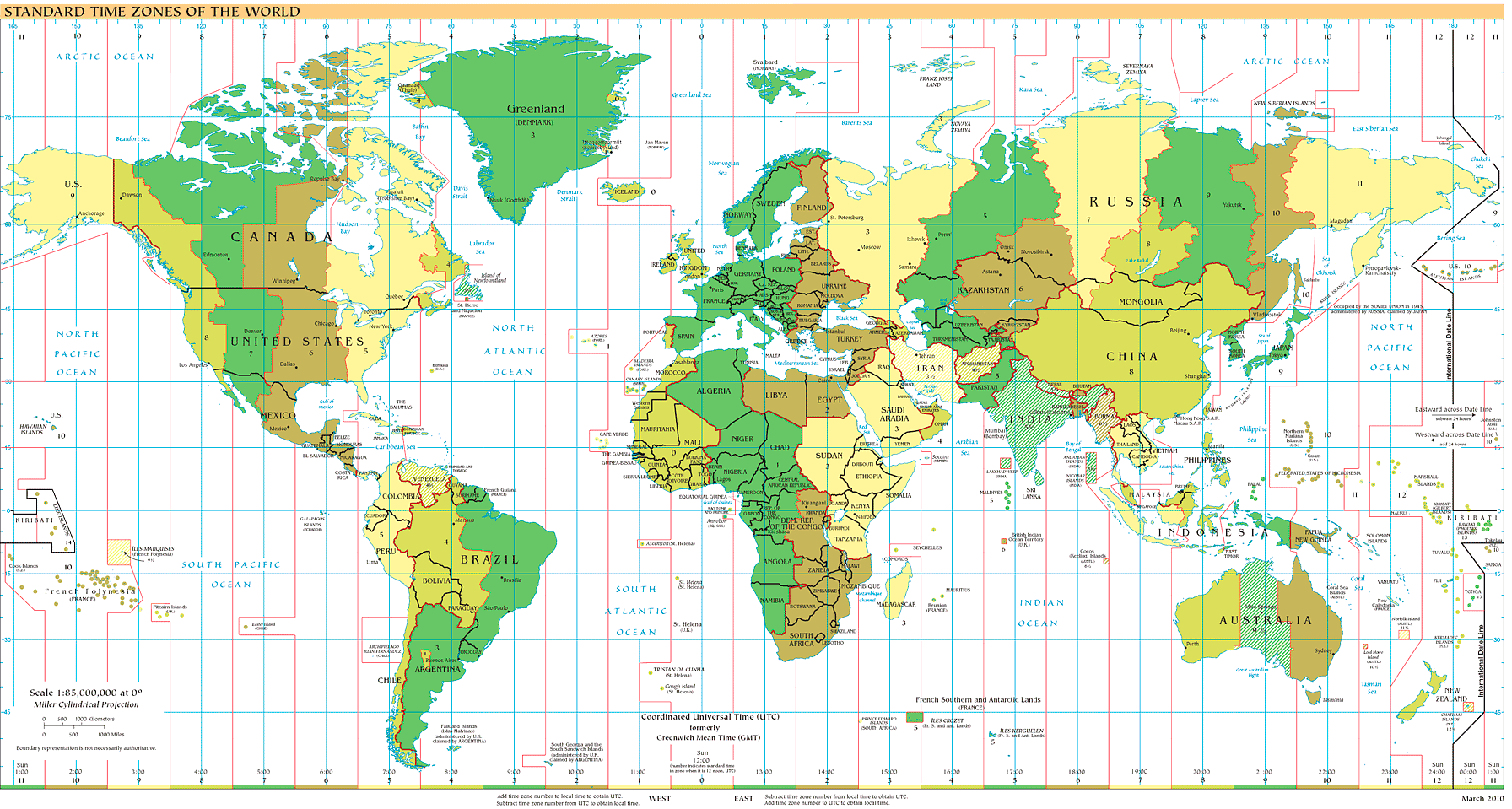Time Zones And Universal Time