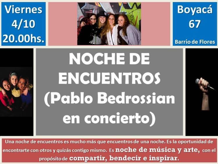 Noche de encuentros con Pablo Bedrossian
