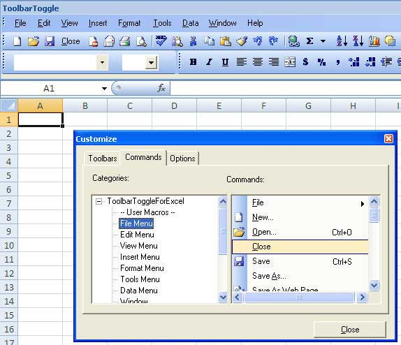 Add The Classic Excel Menu To Excel