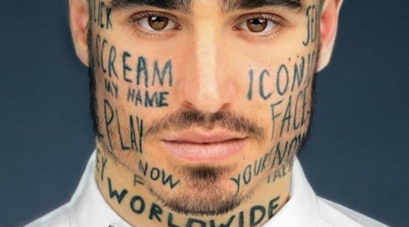 """uno mattina vs videogiochi violenti1 480x2402 - Modello si tatua 24 parole in faccia: """"Voglio diventare famoso""""."""