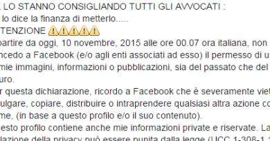 Screenshot 1 - La bufala su Facebook: ...CE LO STANNO CONSIGLIANDO TUTTI GLI AVVOCATI