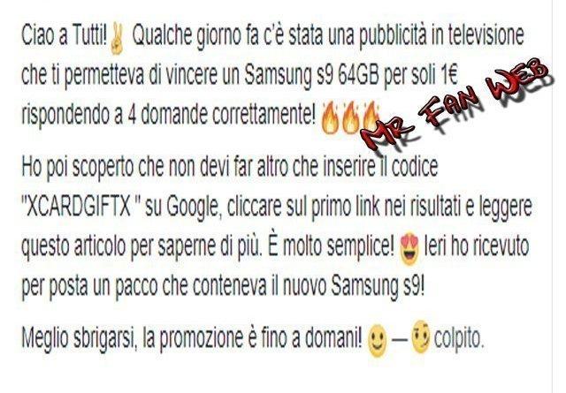 Senza titolo 1 - Samsung S9: La nuova truffa su Facebook