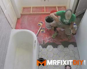 how to tile a bathroom floor a diy