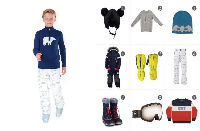 Boys ski wear