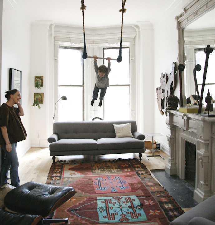 Oeuf NYC trapeze at home