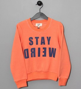 Cool Slogan T-Shirts for Kids: Stay Weird Child.ish jumper