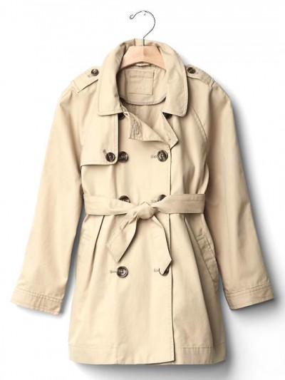 GAP Kids Fit & Flare Trench Coat