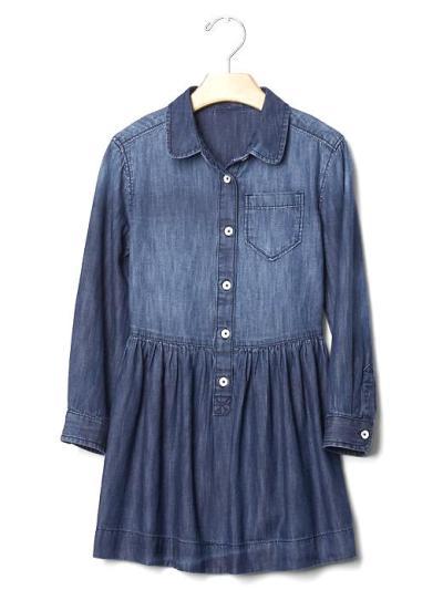 Gap Girls 1968 Denim shirt dress