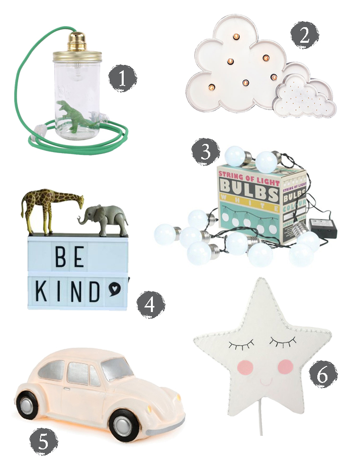 Lights and lamps for children's rooms