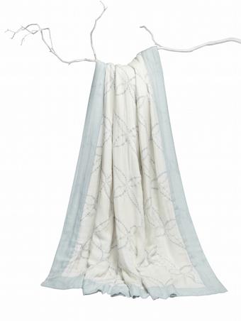 Aden + Anais Bamboo Daydream Blanket veranda