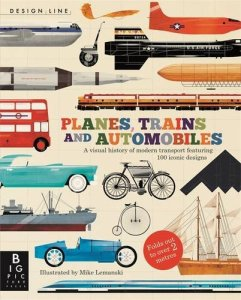Best Presents 10 Year Olds Planes Trains and Automobiles design line concertina book