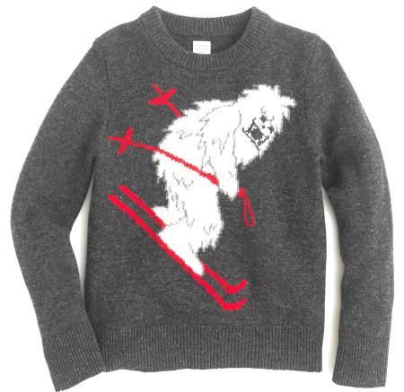 J Crew Skiing Yeti crewneck sweater
