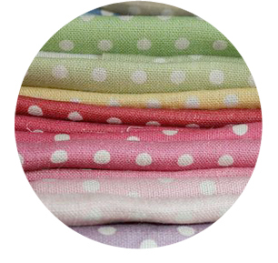 Polka Dot fabric in assorted colours by Sarah Hardaker
