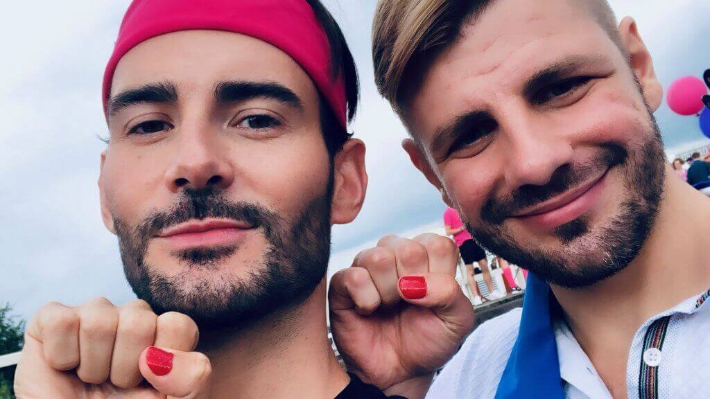Alexander on board with Miss Netherlands at Amsterdam Pride