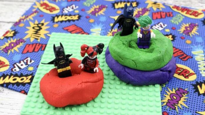 batman crafts for kids - batman-play dough