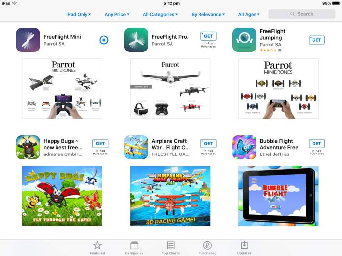iPad Apps | Parrot Mambo Minidrone Review
