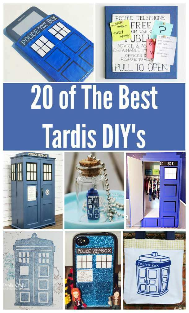 tardis-base | 20 Dr Who Tardis DIY Activities
