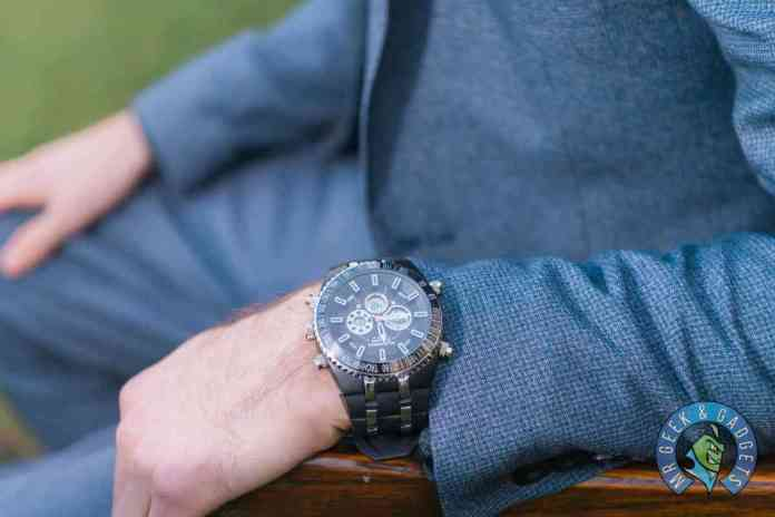 A close up of the Watch | Globenfeld Jetmaster Mens Sports Watch